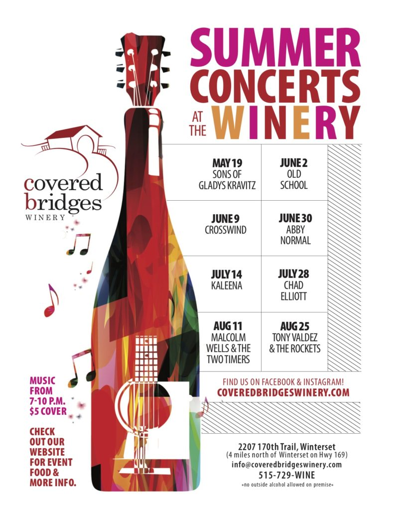 Music at the Winery: 2018 Printable Schedule