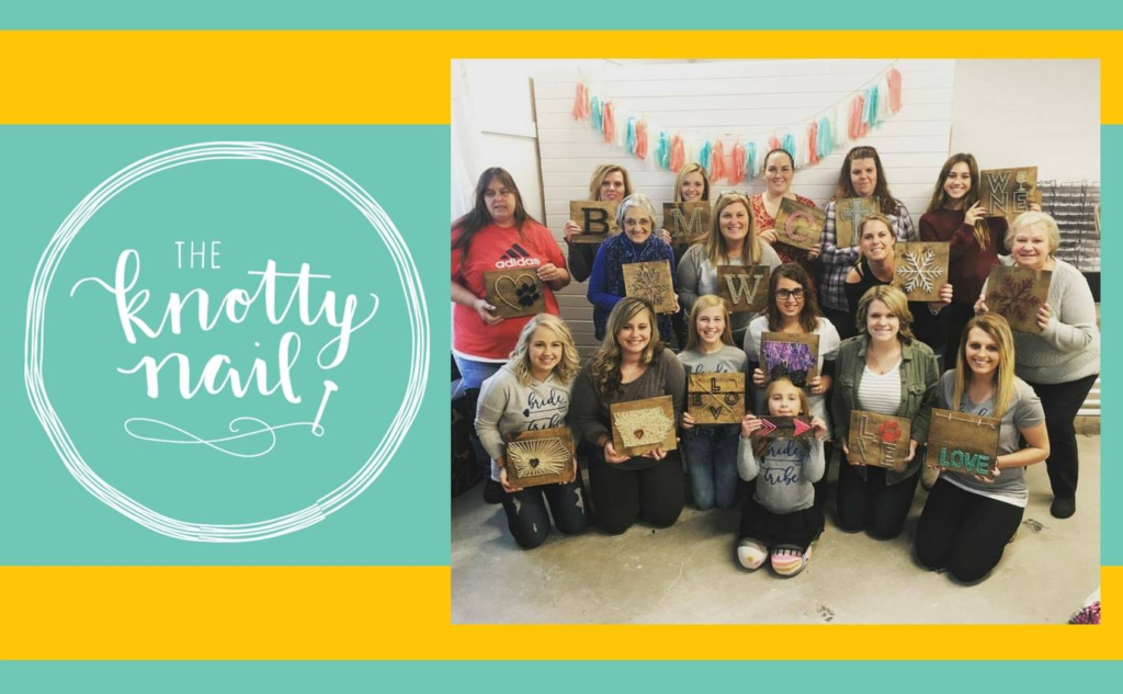 June 15, 2018:<br>Sips & Strings Workshop with Becky from the Knotty Nail
