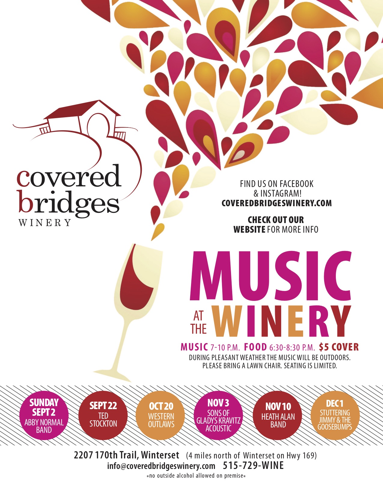 events covered bridges winery