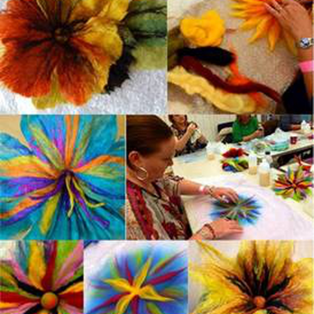"""January 20, 2019: Sunday Crafternoon<br>Needle Felted Art """"Painting with Wool"""""""