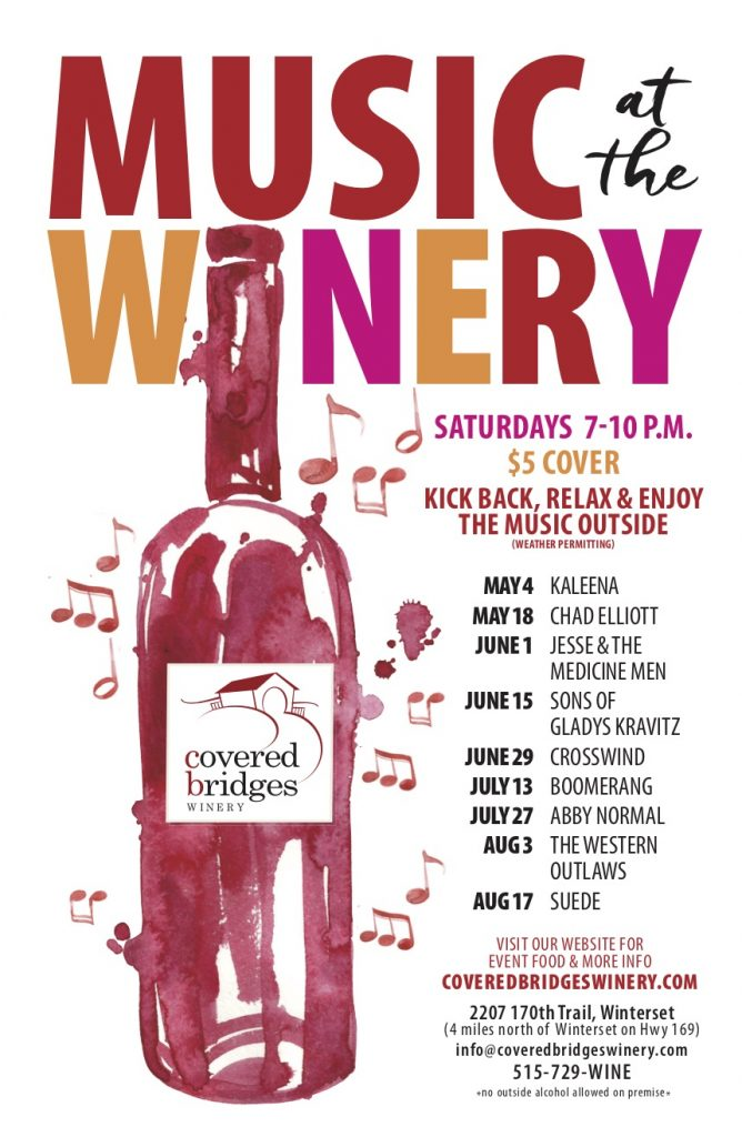 Music at the Winery:<br>2019 Printable Schedule